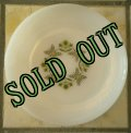 Fire King,/Anchor Hocking, Milk Glass, Meadow Green, Bread & Butter Plate 19cm