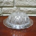 Anchor Hocking ,Prescut Pineapple Round Butter Dish & Lid