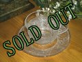 Anchor Hocking, Sandwich Crystal, Cup & Saucer