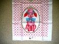 Vintage New Kitchen Linen, Pink Poodle