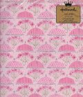 Vintage Hallmark Wrapping Paper Pink Umbrella with Flowers
