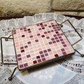 Super Vintage Pink square Trivet