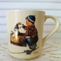 Norman Rockwell,  1984' The Four Seasons Mug Collection, 1956' Boy and His Dog  #3