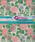 Vintage CLEO Wrapping Paper Pink Flowers, 2 Sheets