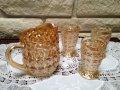 ジャネットグラス ホリデー(ボタン&ボウ) ピッチャー&3タンブラー セット