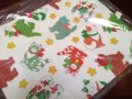 Vintage Christmas CAT Wrapping Paper & Card SET/ NEW