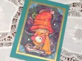 Vintage Christmas Card Drummer Boy / used