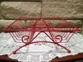 VTG Red Wire MidCentury DishDrying Rack
