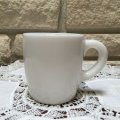 Hazel Atlas, MilkGlass, Barel Mug, White
