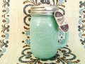 Brand New, Mason Jar Mug, Mint Green  with Regular Mouth Lid, 16oz (ade in China)
