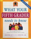 Book, What your 5th Grader needs to know, 2006 Paperback