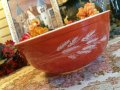SALE! Pyrex, Autumn Harvest, Milk Glass, Mixing Bowl(LL) 4 LT. #404