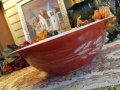 Pyrex, Autumn Harvest, Milk Glass, Cinderella Bowl(LL) 4 LT. #444 AS IS
