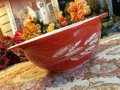 Pyrex, Autumn Harvest, Milk Glass, Cinderella Bowl(M) 1.5 LT. #442