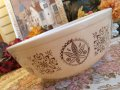 Pyrex, Hex Signs, Milk Glass, Mixing Bowl(LL) 4 LT. #404