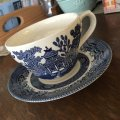Churchill, Blue Willow, Cup & Saucer #1