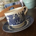 Churchill, Blue Willow, Cup & Saucer #2