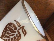 他の写真1: Fire King, Silver Top with Leafs Milk Glass White D-handle Mug