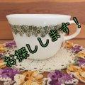 コーニング ミルクグラス スプリングブロッサム・クレイジーデイジー ぽってりカップ