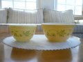 Pyrex, Shenandoah, Milk Glass Mixing Bowl, Set of M & S