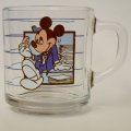 Anchor Hocking, Disney, Mickey Mouse, Glass Mug,  BREAK TIME