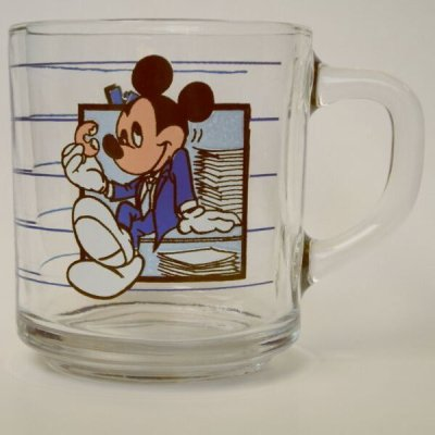 """画像1: アンカーホッキング ディズニー ミッキー・マウス グラス・マグ """"ブレーク・タイム"""""""