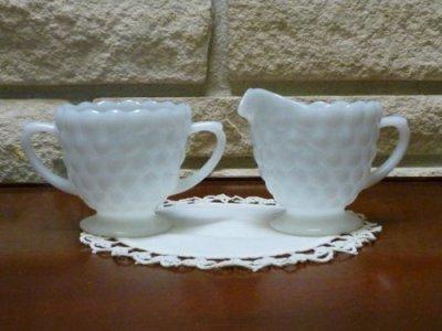 画像1: ファイヤーキング ミルクグラス バブル シュガー&クリーマー