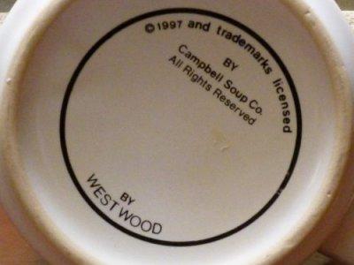 画像3: キャンベル スープマグ 1997年 黒いバックスタンプ(ウェストウッド社)