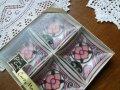 カードメイト・アッシュトレイ(灰皿)ステンドグラス風ピンク花柄 4個セット