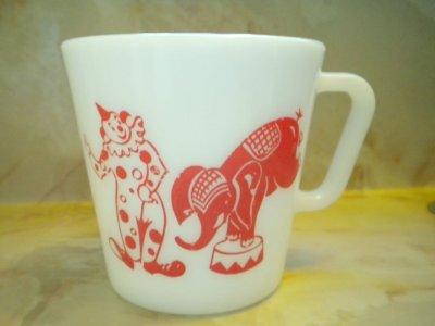 画像2: パイレックス ミルクグラス サーカスマグ
