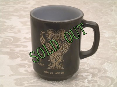 画像1: sold アンカーホッキング ミルクグラス 星座マグ 牡羊座