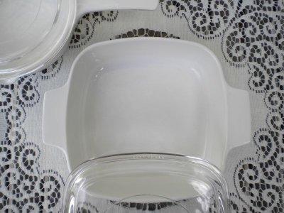 画像3: コーニングウエア スパイスオブライフ エシャーロット(1972年-1987年) 超耐熱ガラス食器パイロセラム スキレット/ソースパン1リットルガラス蓋付