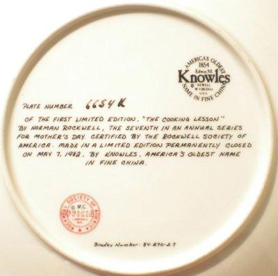 画像2: ノーマン・ロックウェル 母の日 マザーズデー・プレート 1982年 クッキング・レッスン