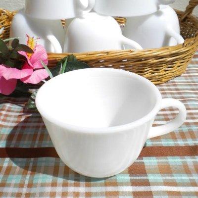 画像4: コーニング ミルクグラス ぽってりカップ