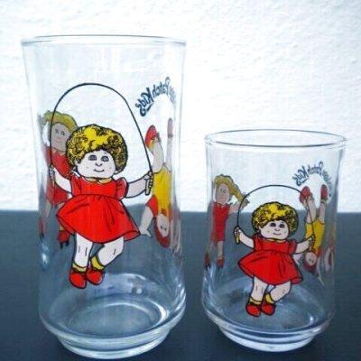 画像2:  O.A.A.Inc. キャベツ畑人形 大小ペアグラス 1984年