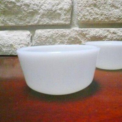 画像1: アンカーホッキング ミルクグラス カスタードカップ 惜しいAS IS