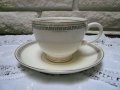 Eggshell, 1942-1943 Greek,Key, USA discontinued Cup&Saucer #2