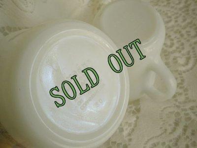 画像2: sold パイレックス ミルクグラス ウッドランド シュガー&クリーマー