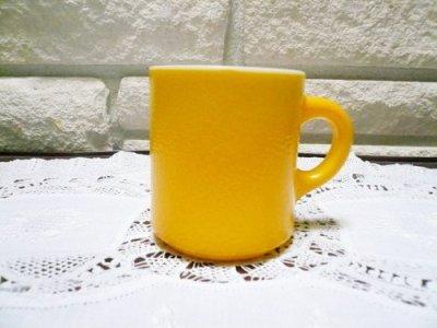 画像1: へイゼルアトラス ざらざら面のミルククラス 黄色のアラーマグ
