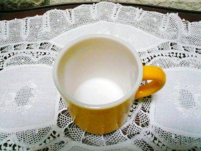 画像2: へイゼルアトラス ざらざら面のミルククラス 黄色のアラーマグ