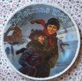 ノーマン・ロックウェル クリスマス・プレート リミテッドエディション  1982年 クリスマス・コートシップ