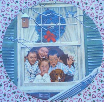 画像1: ノーマン・ロックウェル クリスマス・プレート リミテッドエディション  1980年 サプライズ・フォー・オール