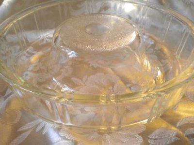 画像4: マッキー・グラス社(ジャネットグラス社/グラスベイク)クイーン・アン ビンテージガラス リングモールド(ゼリー/ケーキ型)