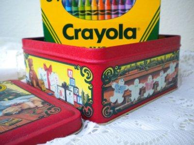 画像3: 1992年 クレヨーラ 64色クレヨン入り缶ボックス アメリカ製