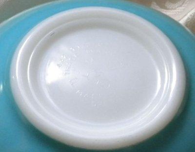 画像4: パイレックス ミルクグラス バタープリント(ブルー) シンデレラボウル(M)