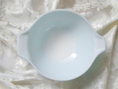 画像3: パイレックス ミルクグラス バタープリント(ブルー) シンデレラボウル(M)