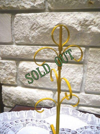 画像2: sold ビンテージ・マグカップツリー イエロー 6個用
