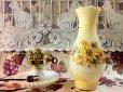 画像2: ビンテージ・ミルクグラス・ランプ ブーピー イエロー&オレンジフラワー (2)