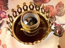 他の写真1: ビンテージ・ミルクグラス・ランプ ブーピー イエロー&オレンジフラワー