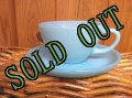 Fire King, Turquoise Blue, Cup & Saucer